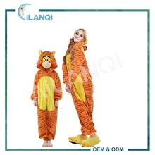 ALQ-A036 OEM 100% polyester cosplay costume tiger onesie pajamas