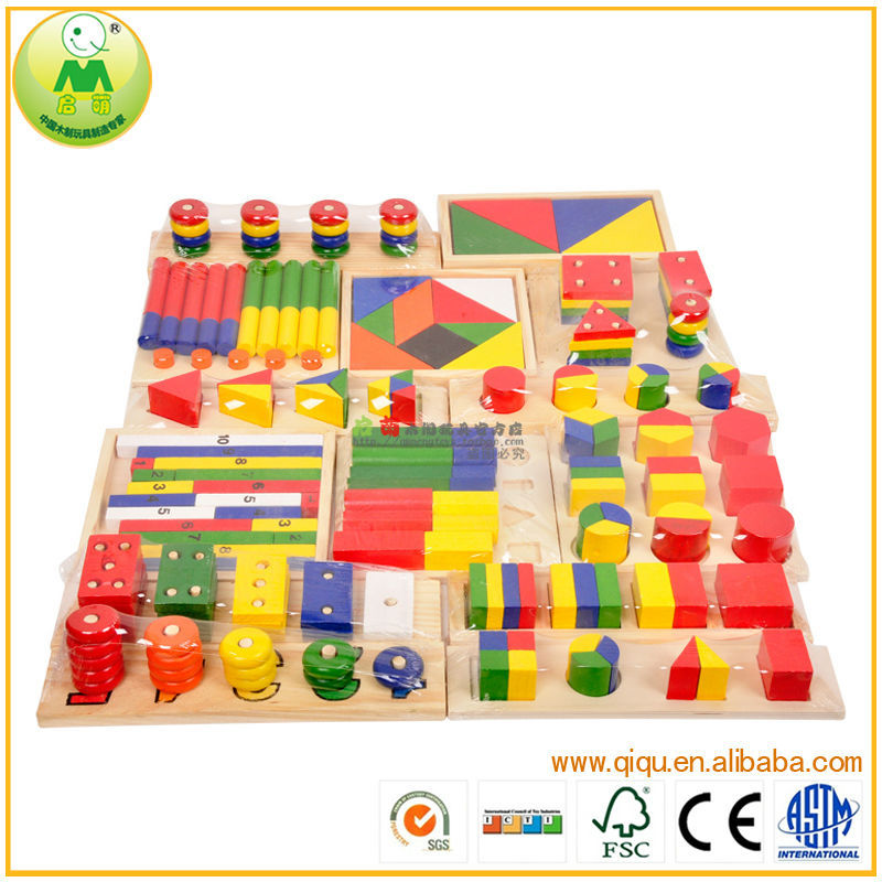 Montessori Teaching kids Educational 14pcs sets Wooden <strong>Toys</strong>