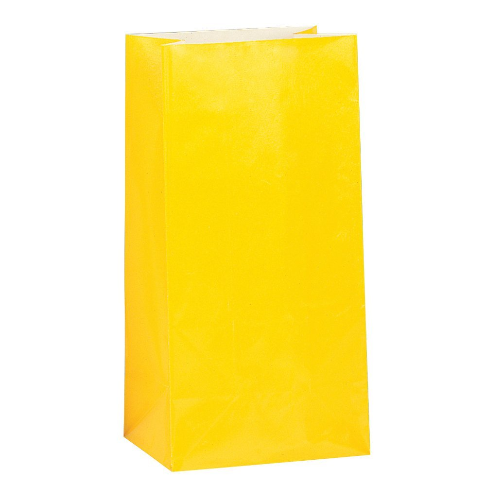 Bright Color Gift Paper Bags For Party/ Paper Sack (1 dozen) For Food Package