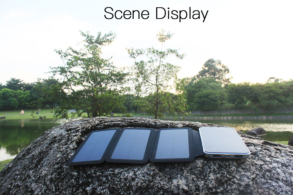 Factory Wholesale Monocrystalline Silicon Solar Charger 6W Dual USB 8000Mah Solar Power Bank With Touch Screen
