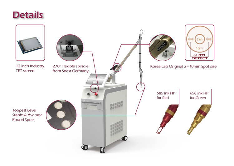 Qswitch & long pulse 2 mode combined 1ms long pulse nd yag laser hair removal machine