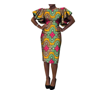 2018 Fashion Nigerian styles African Kitenge Dress Designs Women  traditional wax print fabric cotton plus size 99405e8d1cc2