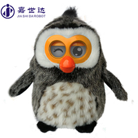 OWL shape plush toy christmas toy help low income families