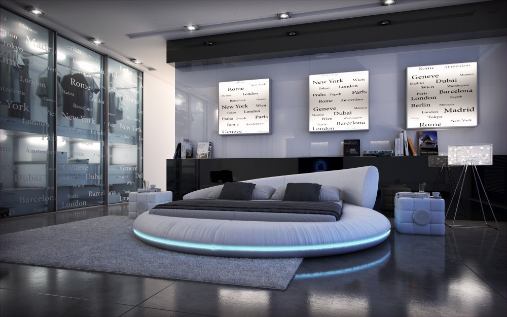 Modern Round bed bedroom furniture circular beds frame