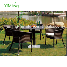 Alaska Garden wicker table and chairs 4 seater dining set terrrace Woven Furniture