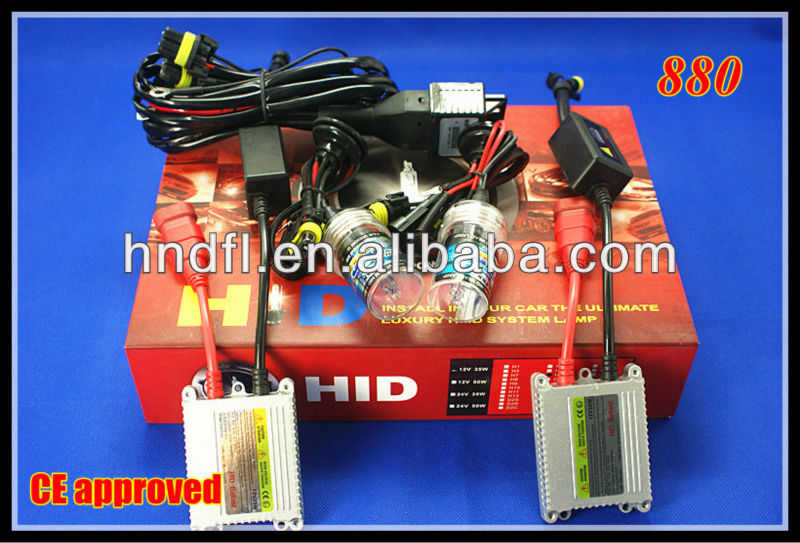 Hottest Sale! 2013 Defeilang real factory best price auto HID xenon converse kit single beam 880 DC/AC 35W 55W 12v 24v