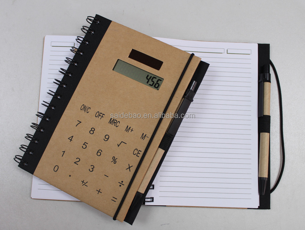 2017 Top Grade Note Memo Pad with Calculator and Pen Set Custom Office and School Supplies