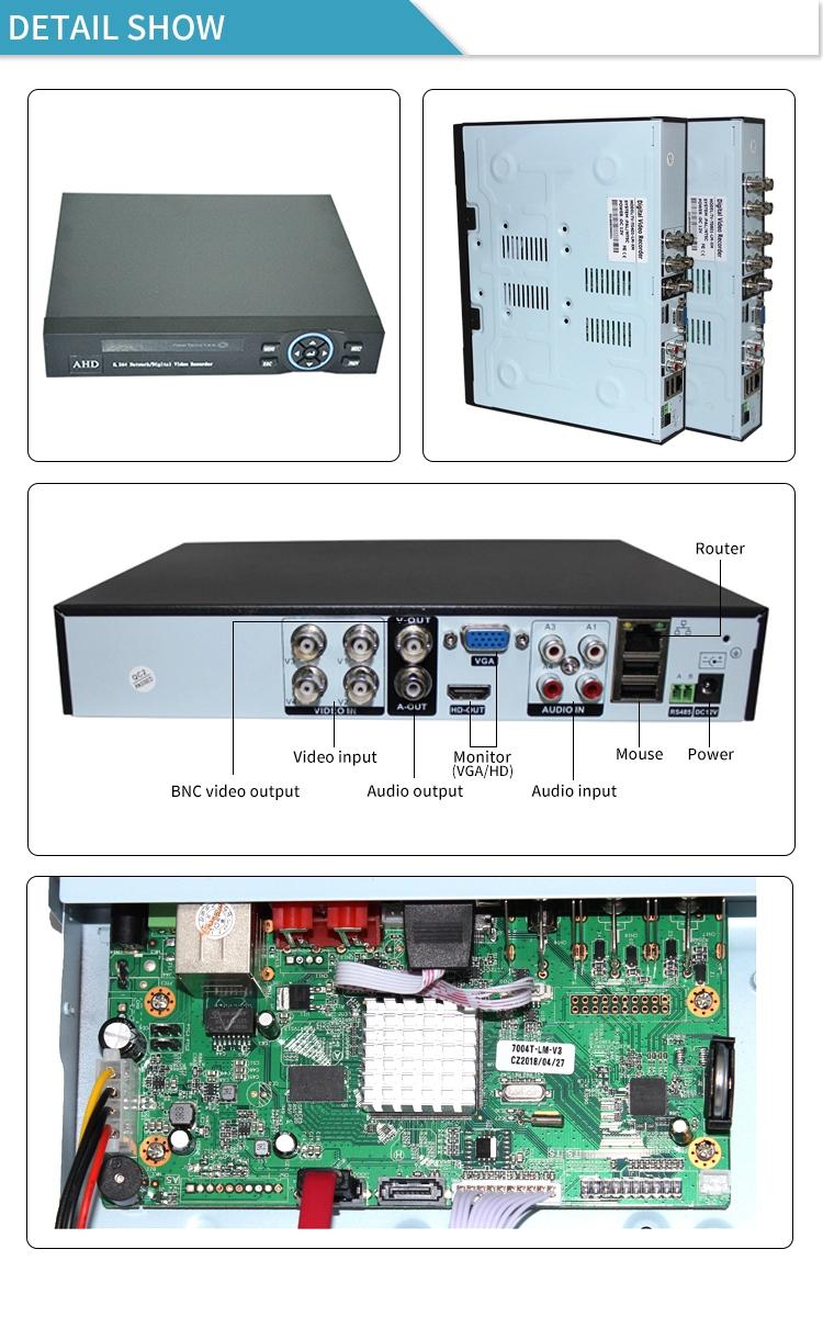 16 kanal 1080N Hybrid AHD DVR CCTV H.264 AHD DVR