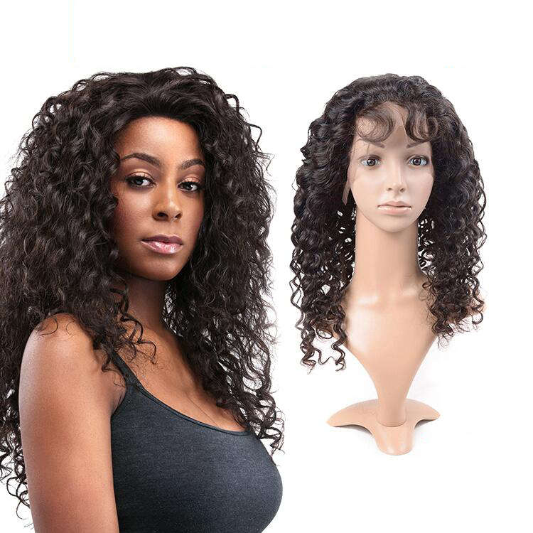d30b56adc Guangzhou brazilian body wave human hair full lace wig for black women,the  100% yaki human hair wig,free lace wig samples