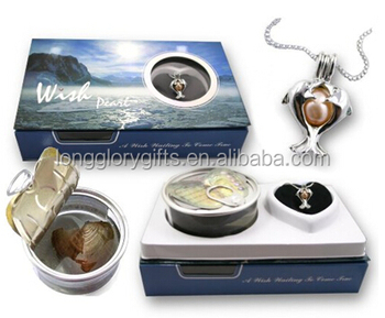 Great Graduation Gift Genuine Wish Pearl Twin Dolphins Cage & Necklace