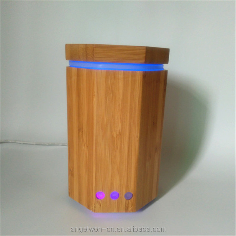 Shenzhen Octagonal Natural Bamboo Aroma Diffuser Wood Oil Diffuser