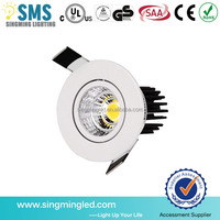 Aluminum durable led downlight 15w warm/pure/cool white COB downlights