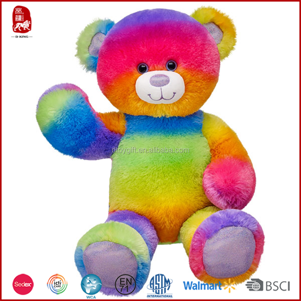Chinese all new material rainbow teddy bear for sale