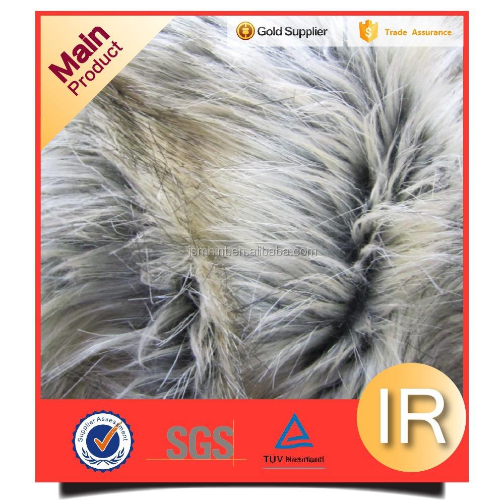 mink fake faux fox fur fabric for coat vest