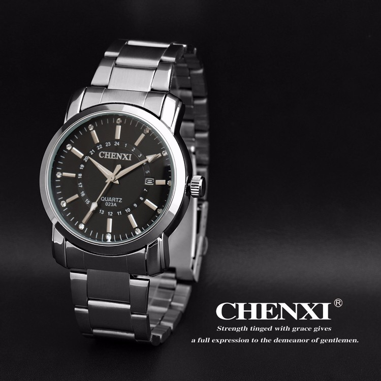 CX-023A-3 High Quality Factory Price Day/Date Original Japan Movement Good Quality Fashion Men Wrist Watch Stainless