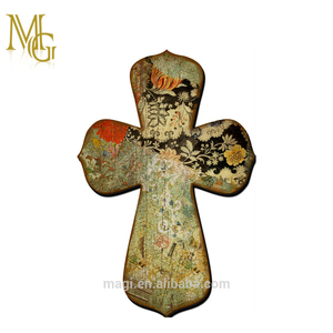 Flower Church Vintage Wood Craft Crosses Wooden Cross For Sale