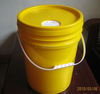 10L white plastic bucket with spout