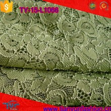 Hermosa China Shaoxing al por mayor verde liado <span class=keywords><strong>embroderied</strong></span> LACE tela