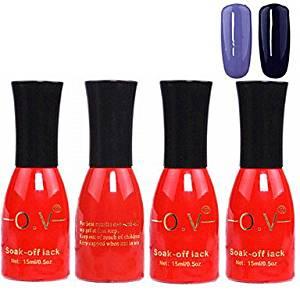 Tint 4PCS OV Red Bottle Soak-off UV Gel Set Top Coat+Base Gel+2 UV Color Builder Gel(No.67-68,15ml)