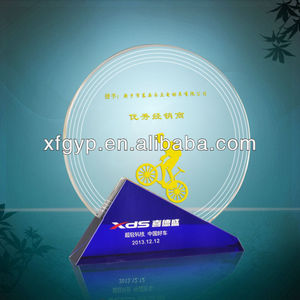 Round Shape Crystal Souvenir Award with Cheapest Price