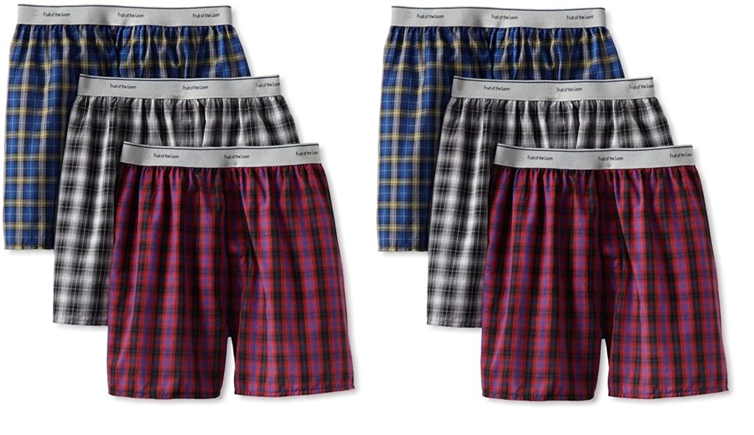Fruit of the Loom 12Pack Boys Exposed-Waistband Boxers Boxer Shorts Underwear
