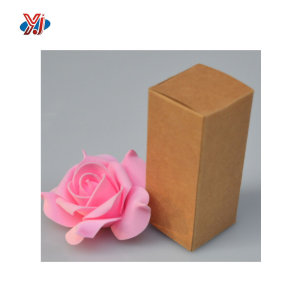 Kraft Paper Rectangle Cardboard Cosmetic Perfume Bottle Packaging Box