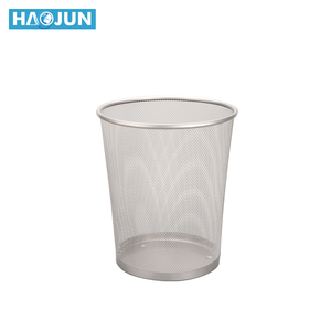New style office round mesh wire powder coated metal paper waste bin / indoor trash can