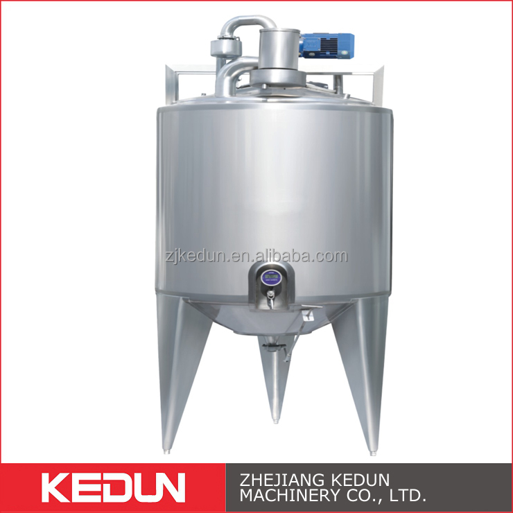 Beverage Stainless Steel Storage 1000L Mixing Tank With Agitator