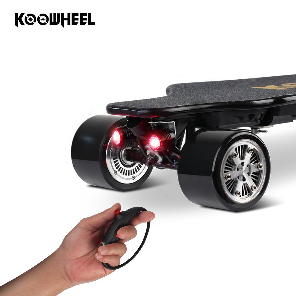 Kooboard 4 Wheel Remote Control maple Longboard Eletric Skateboard, Black;red;blue;green;orange;white