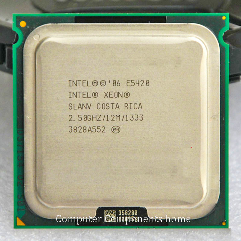 Original E5420 2 5GHz 12M 1333Mhz CPU equal to LGA775 works on LGA775 with two PCS