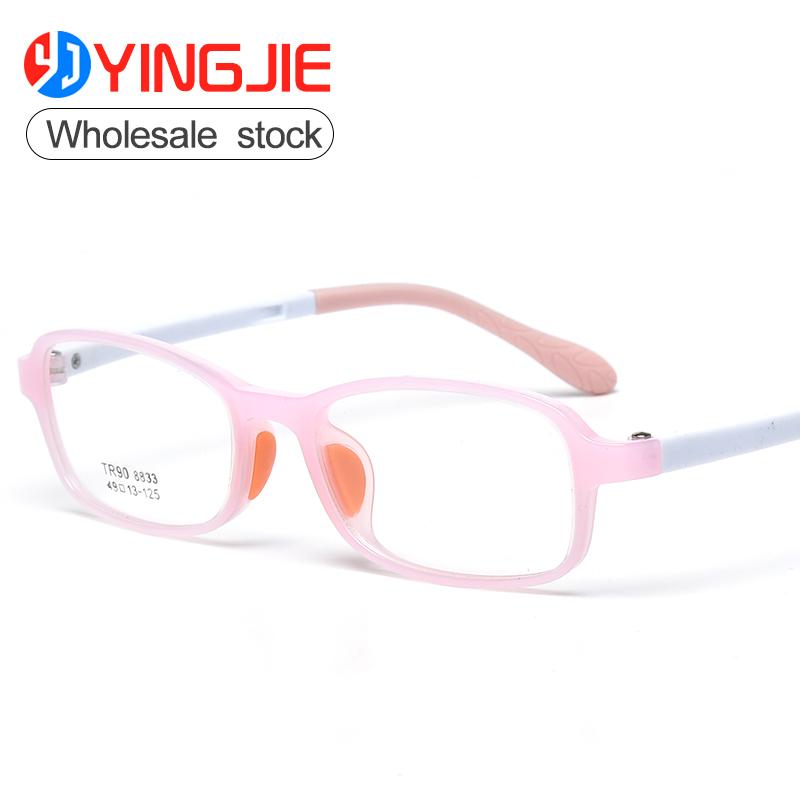 Wholesale comfortable kids eyeglasses TR90 Flexible childrenoptical frames new design factory direct sales round glasses фото