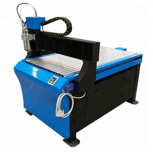 Small Advertising CNC Engraver Machine SW6590 With Gantry Moving For Aluminum Seal Jade Engraving