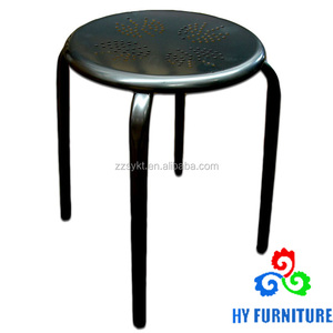 Cheap colorful steel metal stackable stools for sale