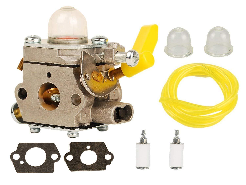 HIFROM Carburetor Gasket Fuel Line Filter with Primer Bulb for Ryobi RY28020 RY28040 CS26 Homelite UT-20004-A UT-20004-B UT-20024-A 308054028 308054034 308054043