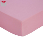 100% Cotton pink baby cot bed sheets for baby bedding organic crib sheet