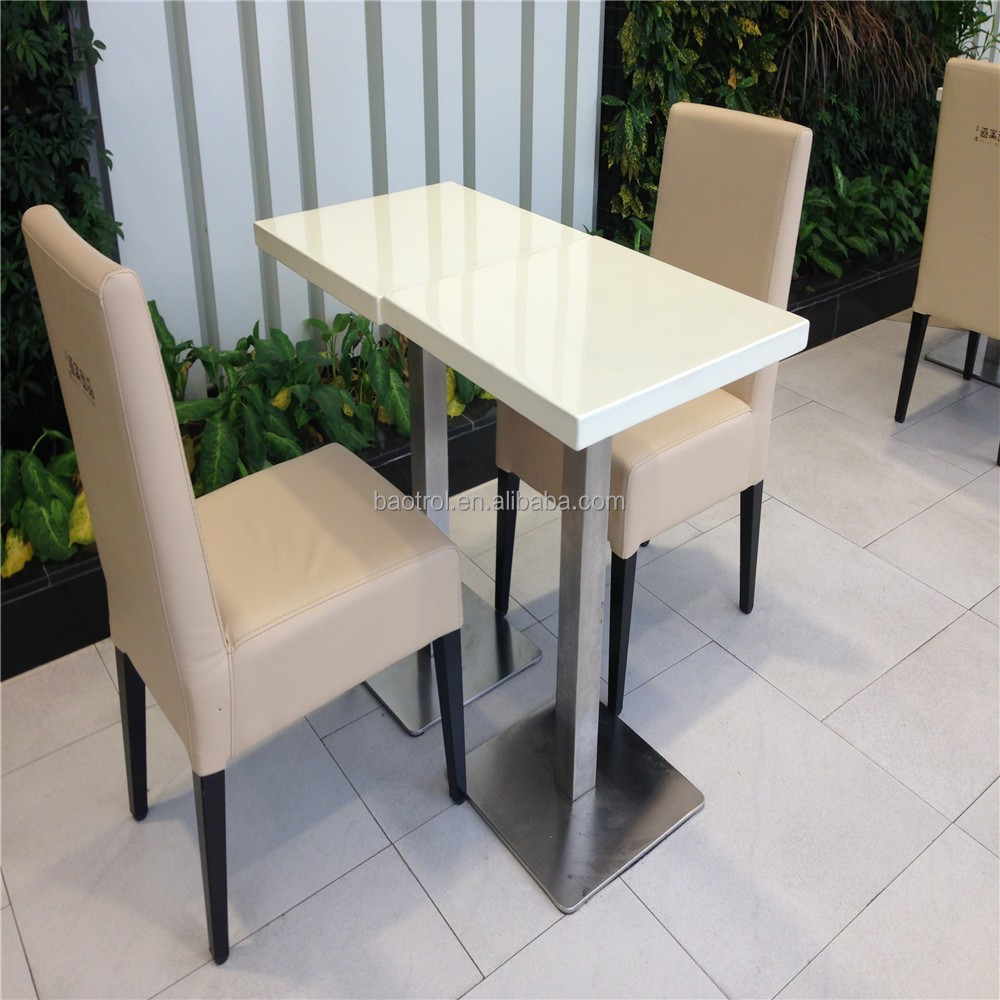 Easy to clean commercial application furniture fast food dining table fast food store dining counter