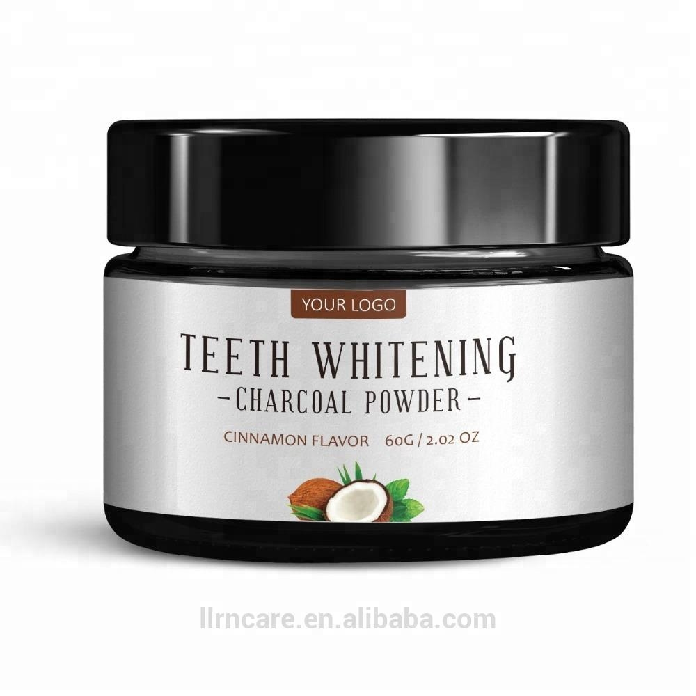 FDA Approved Multiple Flavor Activated Charcoal Teething Whitening Black Powder