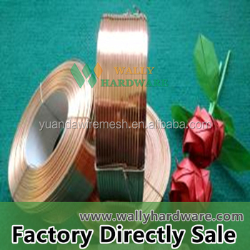 2-5kg/spool Flat Brass Wire/flat Stitching Wire Making Machine ...
