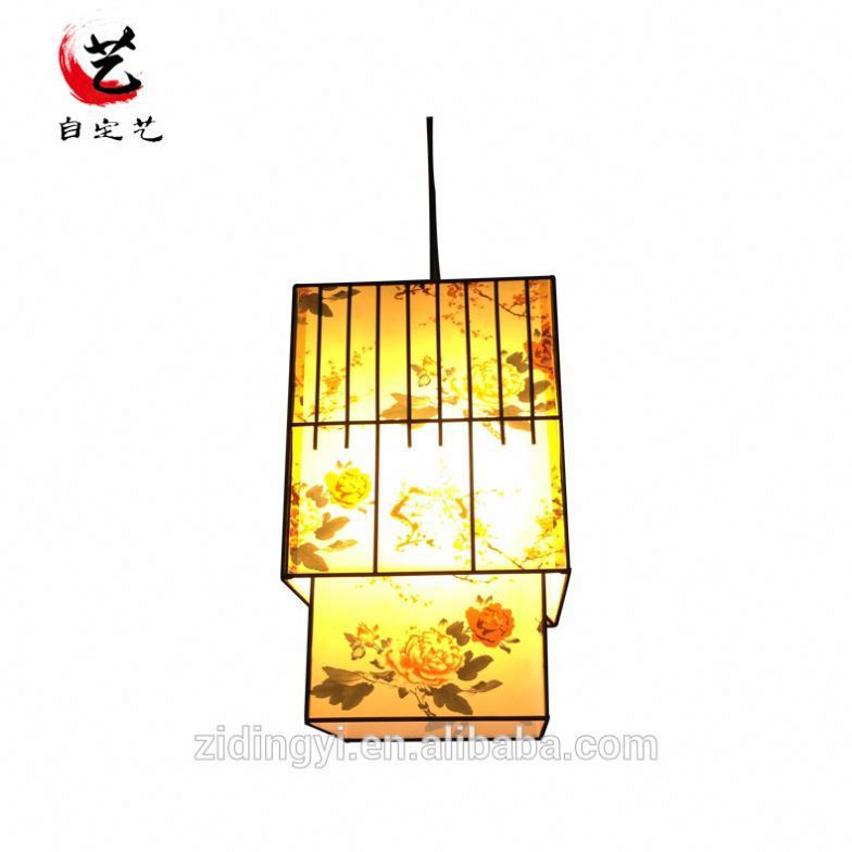 New design aluminum pendant lamp white fabric 2 tier suspension light - white