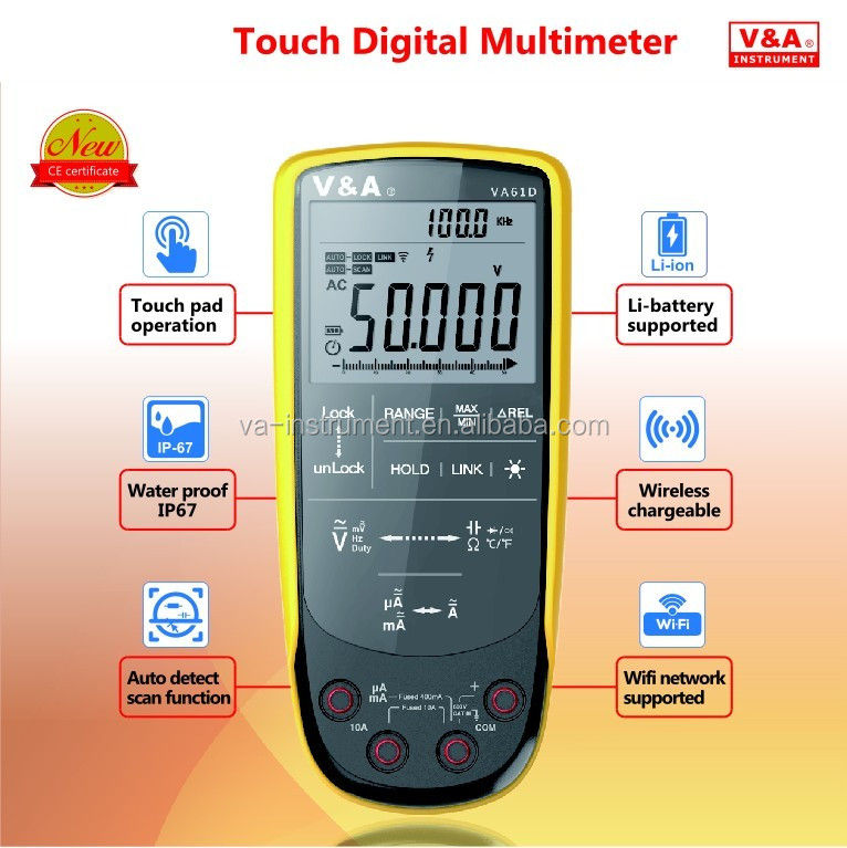 Touch Digital Multimeter with auto LCD display