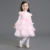 Stock Supply! Short Sleeve spring lace princess baby flower girls dresses1-4y