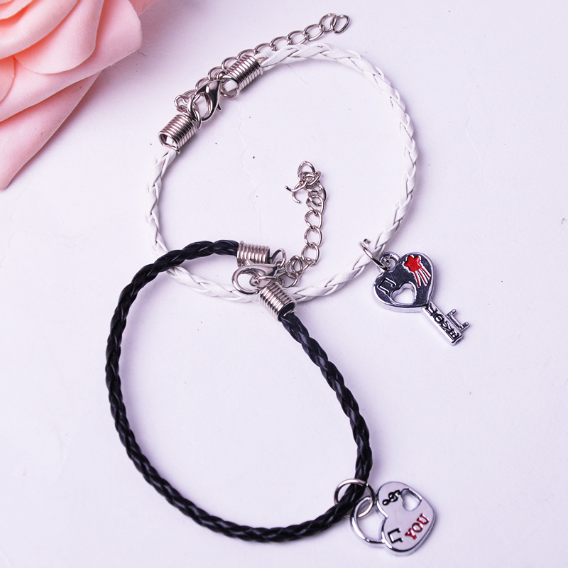 1 пара бесплатная доставка, Пары браслет, Любители браслет, Его-ее персональный подарок, Друг подруга ювелирные изделия F60 * SS1142W