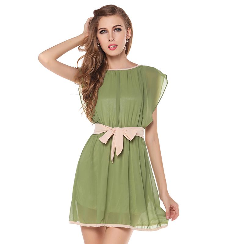 70ace06770 Get Quotations · Vestido De Festa Curto 2015 Summer Style Boho Dress  Chiffon Women Green Party Desigual Plus Size