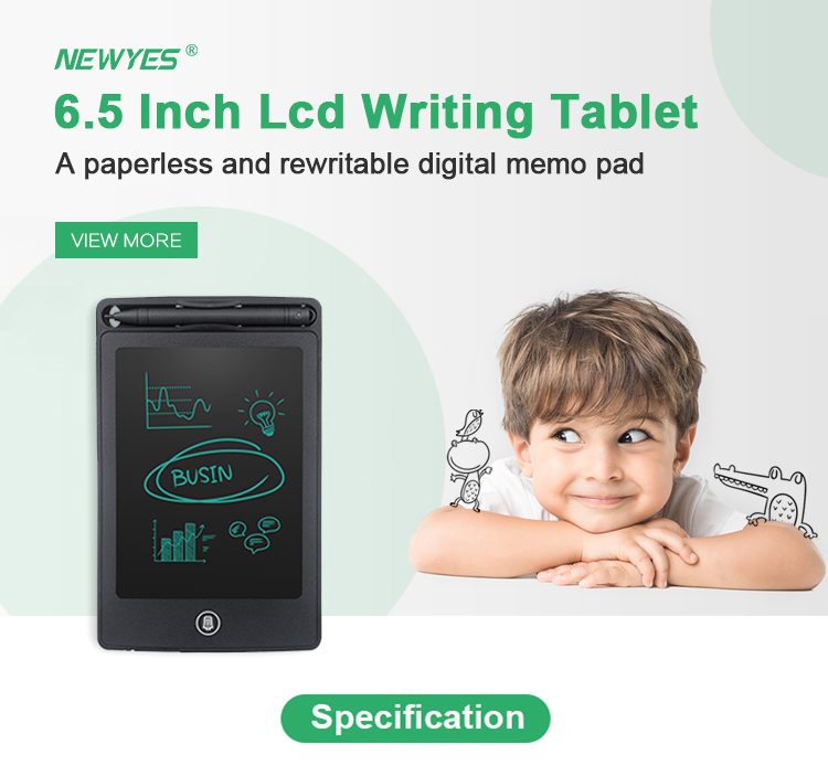 Newyes New 6.5 Inch Erasable Electronic Drawing Pad Paperless Digital Notepad Lcd Writing Tablet