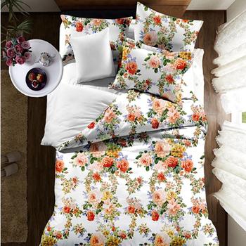 Romantic Modern Design Best Quality Bedding Set 3d Flower Design Bed Sheet