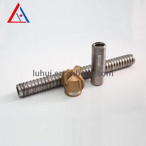 High tensile tungsten carbide r38 self drilling hollow threaded rod tapered drill bit