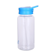 2018 new design eco friendly water bottle custom logo 1000ml plastic drink bottle with straw
