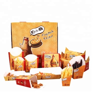Customized fast food paper packaging box with logo design