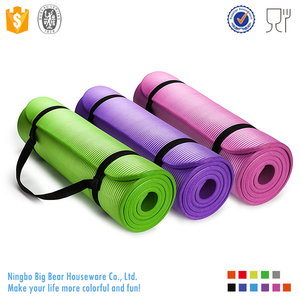 GoYoga All-Purpose Anti-Tear Exercise Yoga Mat with Carrying Strap