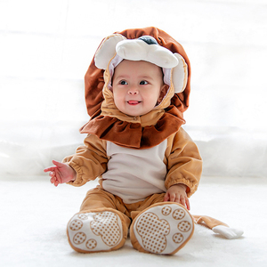 Newborn Baby Cute Lion Animal Clothes Outdoor Warm Winter Romper Outfits Costume
